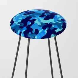 Camouflage (Blue) Counter Stool