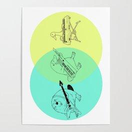 Keytar Platypus Venn Diagram Poster