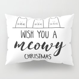 Meowy Christmas Pillow Sham