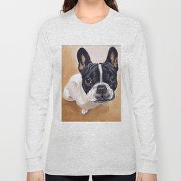 French Bulldog Gouache Artwork Long Sleeve T-shirt
