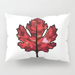 A Maple Leaf with Heart Pillow Sham