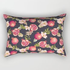 Pomegranate patterns - floral roses fruit nature elegant pattern Rectangular Pillow