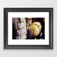 world traveler Framed Art Print