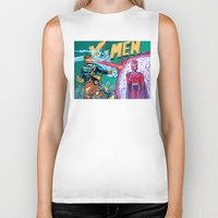 x men Biker Tanks featuring X-Men! by thechrishaley