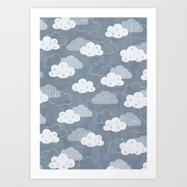 RAIN CLOUDS Art Print