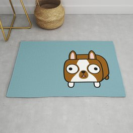Boston Terrier Loaf - Red Brown Boston Dog Rug