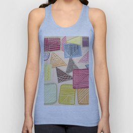 Colorful square abstract pattern Unisex Tank Top