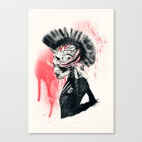 punk Canvas Prints featuring PUNK by Ali GULEC