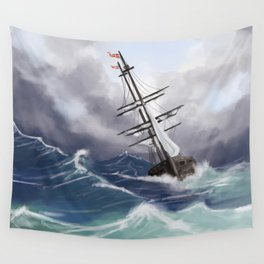 Sail the Seven Seas Wall Tapestry