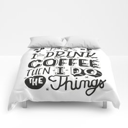 First Coffee Comforters