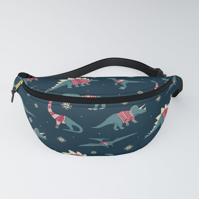 Dinos In Sweaters Fanny Pack
