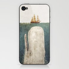 The Whale - vintage option iPhone & iPod Skin