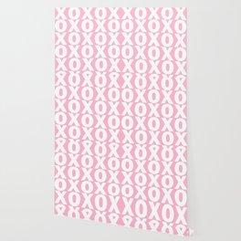 XOXO - Light Pink Pattern Wallpaper