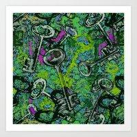 key Art Prints featuring Key by Emma Stein