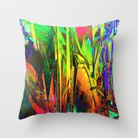 blues Throw Pillows featuring Blues. by Assiyam
