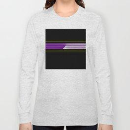 Team Colors 5...Purple,yellow Long Sleeve T-shirt