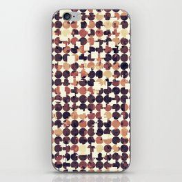 geometric square and circle pattern abstract in brown iPhone Skin