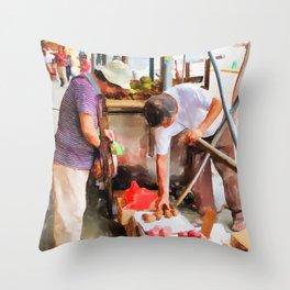 Street Vendors 1 Throw Pillow