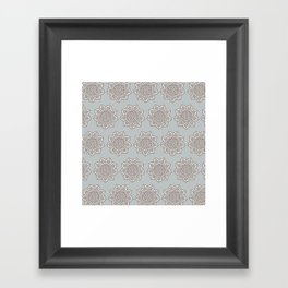 Celtic Mandala in Gray Framed Art Print