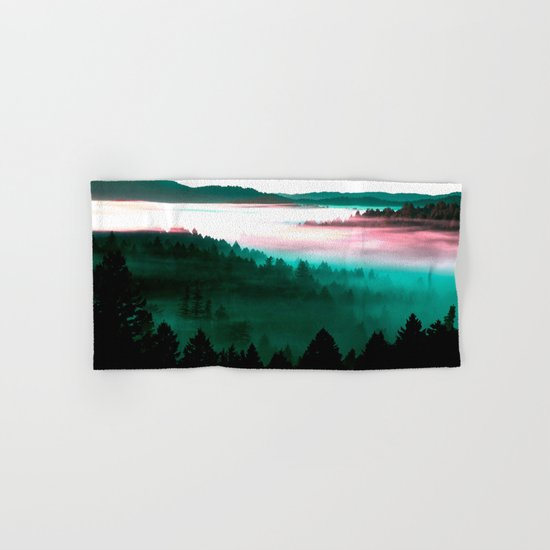 Misty Mountains Morning : Magenta Mauve Teal Hand & Bath Towel