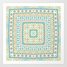 Square pattern  Art Print
