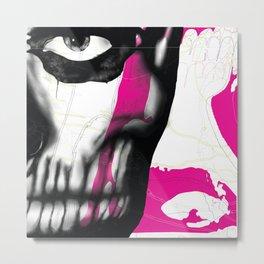 Rick Genest #1 - Magenta Metal Print