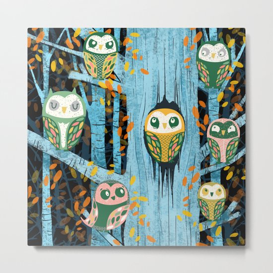 Overnight Owl Conference Metal Print