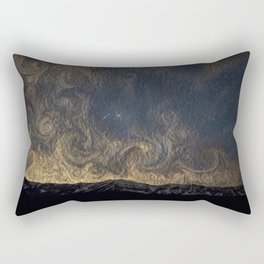 Meteor Over The Bridgers Rectangular Pillow