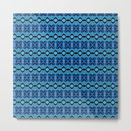 Lines in syphony blue Metal Print