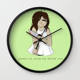 Please Cut Along The Dotted Lines. Wall Clock