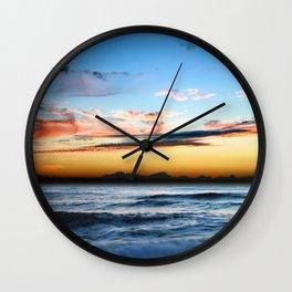 Beach at Sunrise Wall Clock