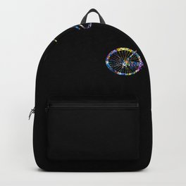Rainbow BikeRiding Lover Gift Idea Backpack