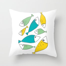 Petites Perchaudes Throw Pillow