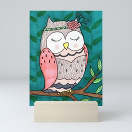 Spring Owl Mini Art Print