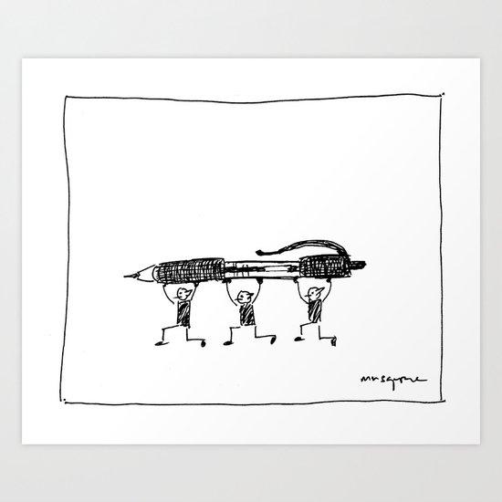 Pen Gremlins Art Print