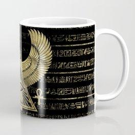 Egyptian Eye of Horus - Wadjet Gold and Black Coffee Mug