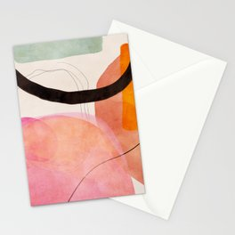 mid century organic shapes spring 21 /3 Stationery Cards