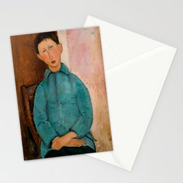 "Amedeo Modigliani ""Boy in a Blue Vest"" 1918 Stationery Cards"