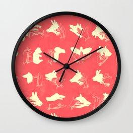 Coral Shadow Puppets Wall Clock