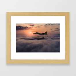 Eagles In Flight Framed Art Print