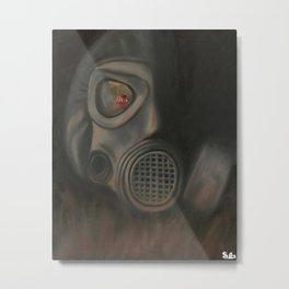 Freak Show Gas Mask Oil Painting Metal Print