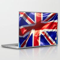 england Laptop & iPad Skins featuring England Flag by Fine2art