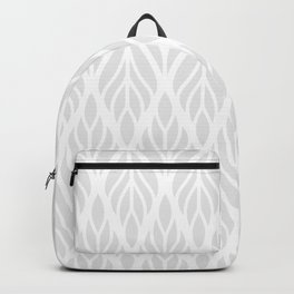 Grey Abstract Paisley Feathers Backpack