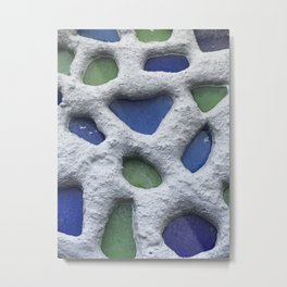 Sea Glass Mosaic Detail Metal Print