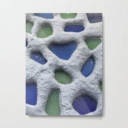 Sea Glass Mosaic Detail Metal Print
