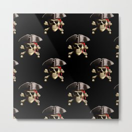 Jolly Roger And Hat Metal Print