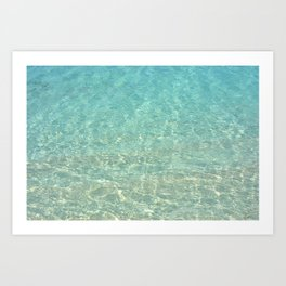 Colors of the Sea Water - Clear Turquoise Art Print