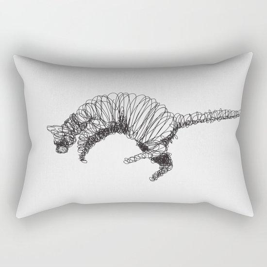 Cat Flying Rectangular Pillow