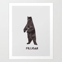 Filligar Bearsville Art Print