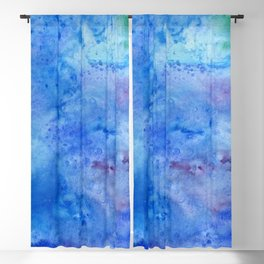 Mariana Trench Watercolor Texture Blackout Curtain